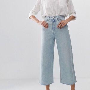 ASOS Design premium wide leg jean in light